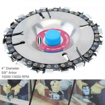 4 Inch DIY 22 Tooth Steel Chain Saw Angle Grinder Disc Blade Wood Carving Tool