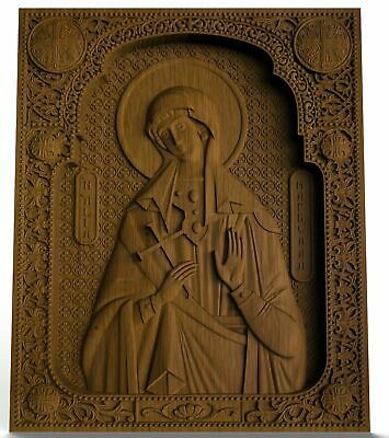 Saint Markella WOOD CARVED CHRISTIAN ICON RELIGIOUS WALL HANGING ART WORK