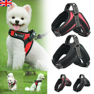Dog Harness Outdoor Reflective Pet Vest Padded Harnesses For Puppy Chihuahua UK
