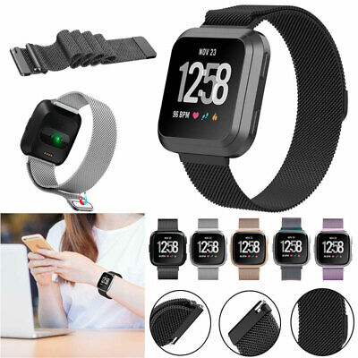 Replacement Band for Fitbit Versa Milanese Strap Wristband Metal Stainless Steel