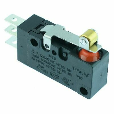 15mm Roller Lever Waterproof Microswitch SPDT 10A IP67 Micro Switch