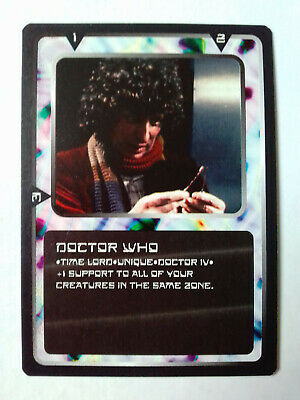 Doctor Who - CCG Card Game Ultra Rare Card Doctor Who IV - Tom Baker MMG - 1996