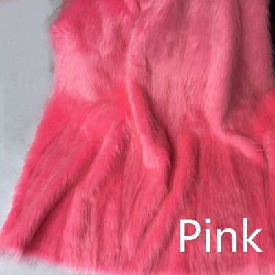 Luxury Long Haired Pile Faux Fur Fabric Furry Upholstery Crafts Jewelry Display