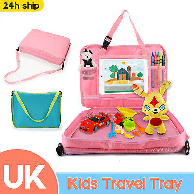 Kids Car Seat Travel Play Tray Baby Toddler Safety Waterproof Snack Table Board