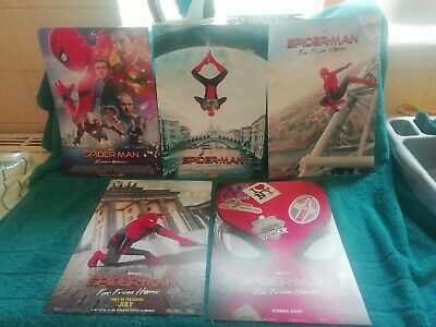 Set Of 5 Spiderman Posters Homecoming And Far From Home