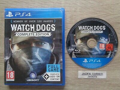 Watch Dogs Complete Edition  PS4 Game -1st Class FREE POSTAGE