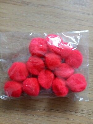 13 Small red Pompoms