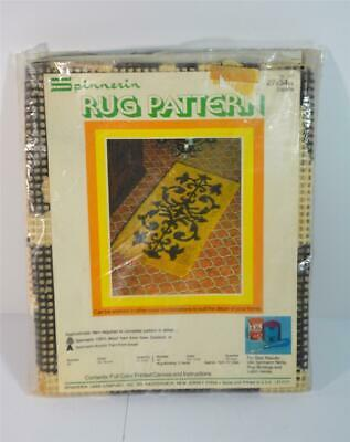 """NOS Vintage 70s SPINNERIN Latch Hook Rug Wall Hanging No. 121 27""""x54"""""""