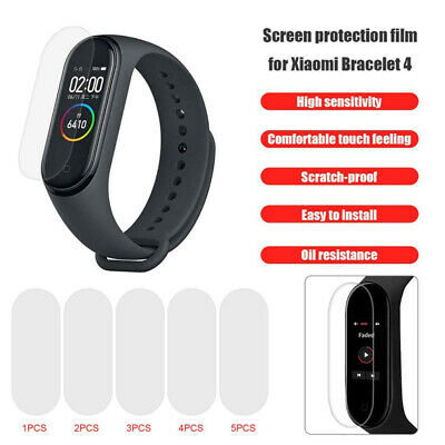 For Xiaomi Mi Band 4 Smart Watch Tempered Glass Screen Protector Film Guard Case