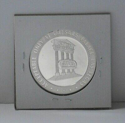 1967 Caesar's Palace Casino Sterling Silver Gaming Slots Token Proof, F. Mint