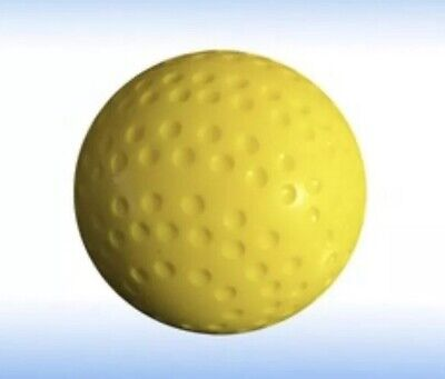 X10 Solid Dimple Hockey Balls Yellow