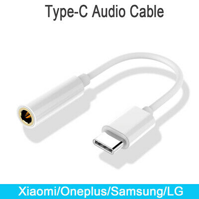 Phones Type-c To 3.5mm Connector Xiaomi Audio Cable Headphone Adapter Cord