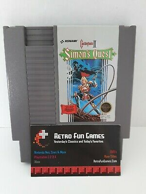 Castlevania 2 II Simons Quest Nes Nintendo  ** Cleaned, Tested, Working **