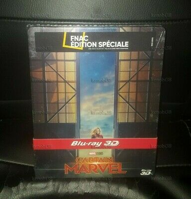 Captain Marvel 3D + 2D Blu-Ray Steelbook Edition Speciale Fnac [France]
