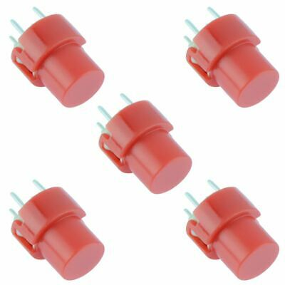 5 x Red Round PCB Keyboard Tactile Push Switch SPST