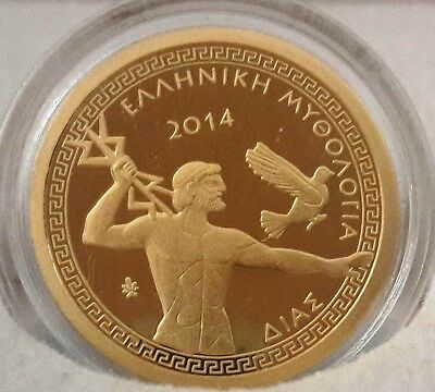 The rarest 🅰️ GOLD PROOF GREECE 100 Euro 2014 Zeus 🅰 GRECE Grecia
