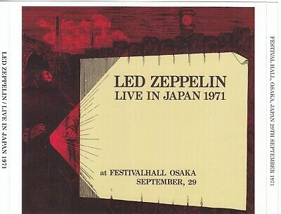 LED ZEPPELIN LIVE Osaka, Japan 9-29-71 2 CD new master soundboard