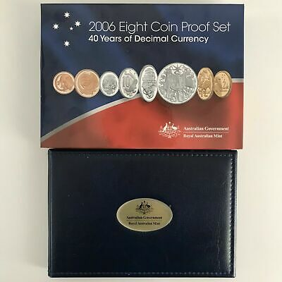 2006 Royal Australian Mint Eight Coin Proof Set - 40 Years of Decimal Currency