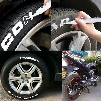 10Pcs White Tyre Permanent Marker Pen Paint Waterproof Wheel Rubber Tire Tread