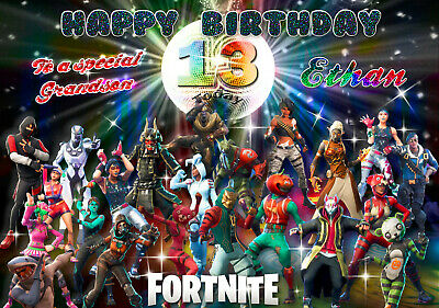 b776; Great Personalised Birthday card; *With ANY name age text*; FORTNITE
