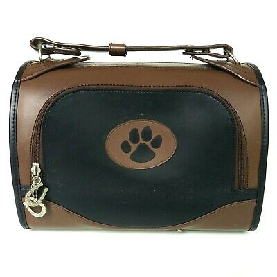 Pet Flys Airline-Approved In-Cabin Brown Leather Small Dog/Cat Pet Tote Carrier
