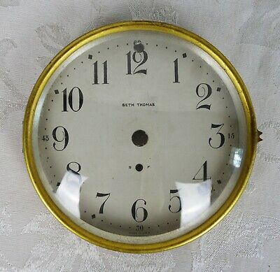 "Antique Seth Thomas Mantle Clock Face Bezel Mount Plate 5.5"" D Fit"