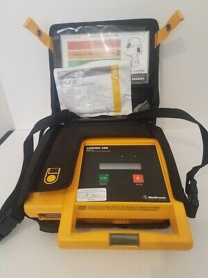 Physio Control Lifepak 500 WIth Pad and Case, No battery