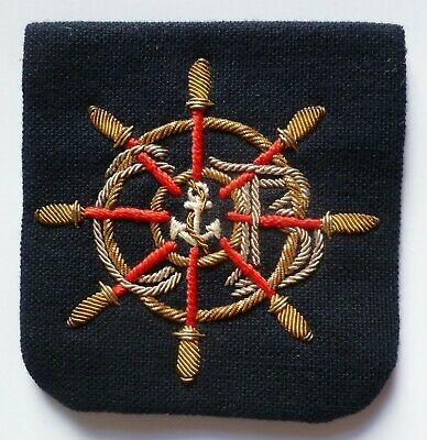 Insigne Patch Ecusson MARINE YACHTING CLUB NAUTIQUE brodé cannetille or ORIGINAL