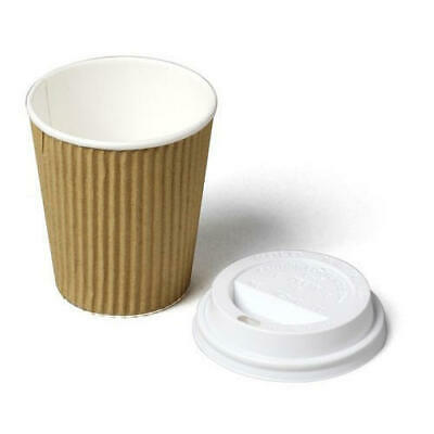 8/12/16 OZ Disposable Cups Ripple Kraft Triple Wall Paper Coffee Cups Takeaway