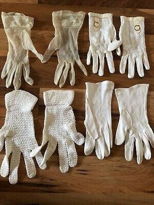 4 Pairs Of Vintage Gloves