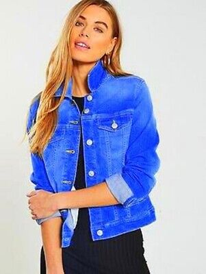 £37 girls jacket  Next Denim  Age 10 -11 - 12  years blue SUMMER stretch top