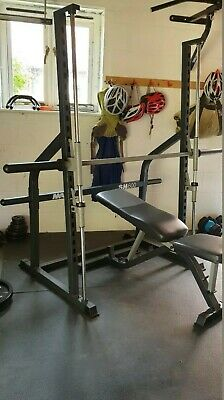 Marcy SM600 Smith Machine Power Rack Cage and heavy-duty Adjustable Weight Bench