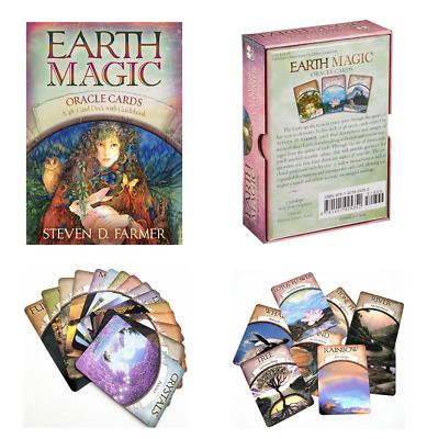 Earth Magic Cards Set 48 Pcs Deck Oracle Card Tarot Guidebook By Steven D Farmer