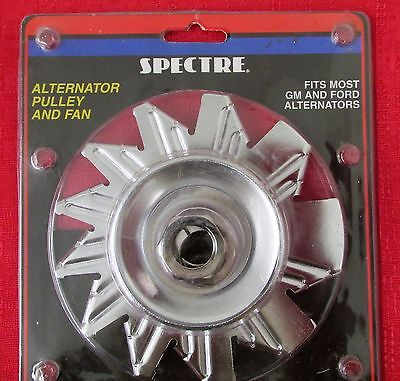 Alternator Pulley - Chrome - 4481 Spectre - Single Groove - New