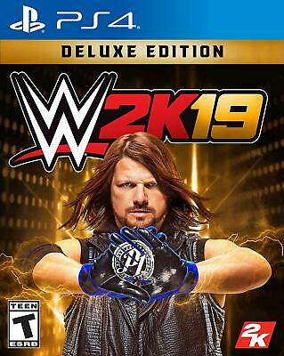 WWE 2K19 Deluxe Edition - PS4 - NEW & FREE SHIPPING