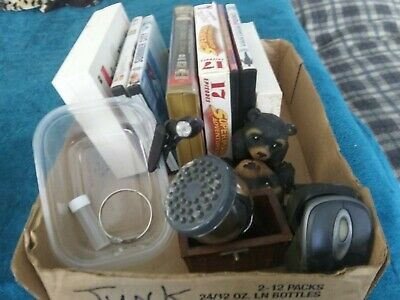 Junk Drawer Lot with DVD's, PC Mice, Shower head & what you see.