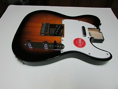 NEW  Fender Squier Affinity Telecaster 2-Color Sunburst LOADED BODY