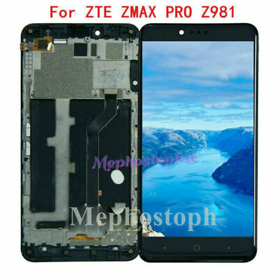For ZTE ZMAX Pro Z981 LCD Screen Replacement Display Touch Digitizer+Frame Black