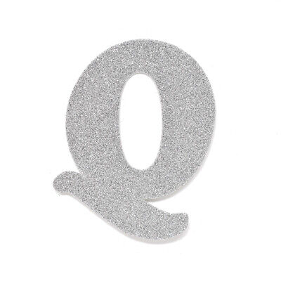 "EVA Glitter Foam Letter Cut Out ""Q"", Silver, 4-1/2-Inch, 12-Count"