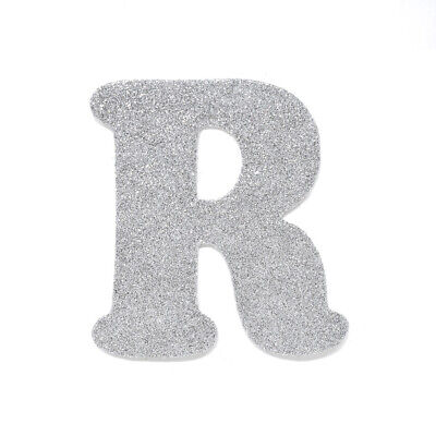 "EVA Glitter Foam Letter Cut Out ""R"", Silver, 4-1/2-Inch, 12-Count"