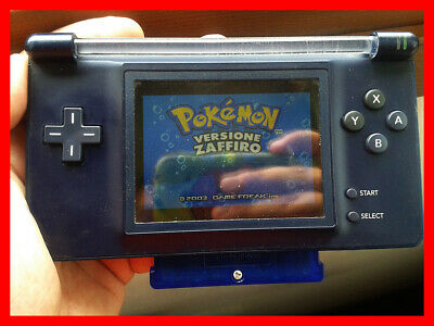 [Game Boy Macro] Nintendo DS Lite Blue (GBA Advance SP AGS-101) Backlight