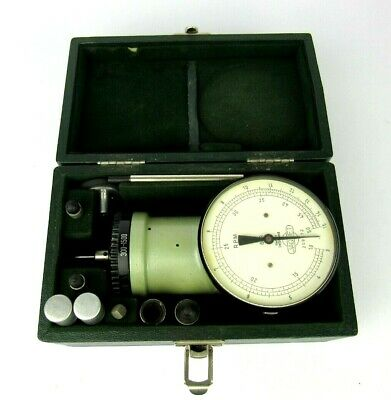 Jaquet Swiss Made Rpm Meter vtg W Accessories Revs Per Minute and Box