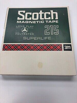 Vintage 3M Scotch Magnetic Tape Superlife 215 7-inch Long Play 1800 ft 18cm 540m