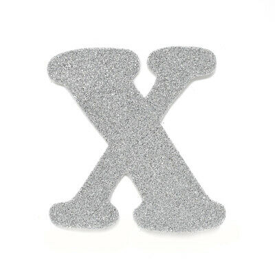 "EVA Glitter Foam Letter Cut Out ""X"", Silver, 4-1/2-Inch, 12-Count"