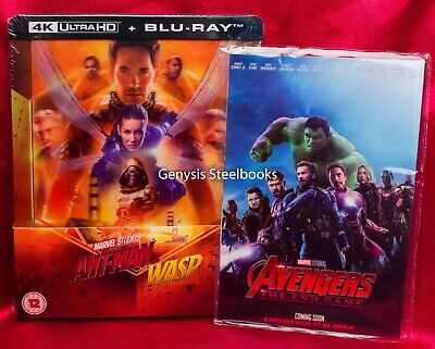 Ant-man & The Wasp 4K Ultra HD  Zavvi Lenticular Steelbook + Marvel Art Cards