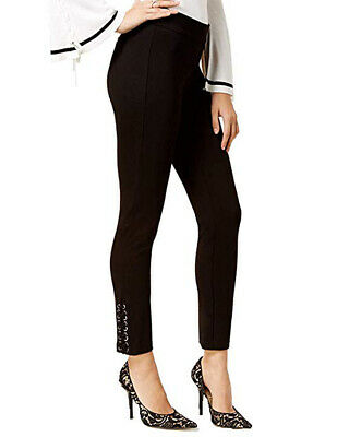 XOXO Juniors Skinny Lace-Up details Ankle Cropped  Pants.Black. Sz 8. $59