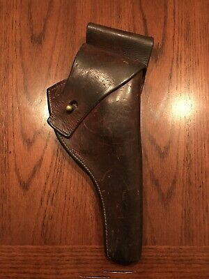 WWII Era US Army M2 Leather Holster for Colt & S&W M1917 Revolver - Textan 1942