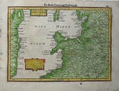 Antique Map of North West England by Gerard Mercator 1610