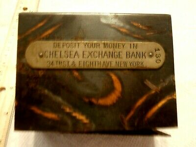 Vintage W F Burns Co Coin Bank Chelsea Exchange Bank 34Th & 8Th New York City Ny
