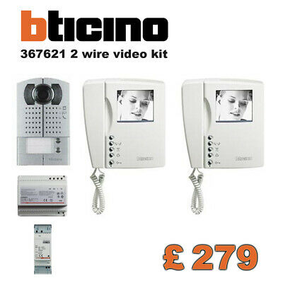 Bticino Terraneo 367621 2 Fili Video Kit B/N Bifamiliare Quality Intercom